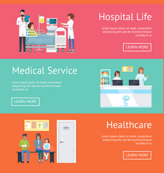 hospital life medical service and healthcare vector image vector image