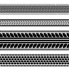 Imprints tires vector