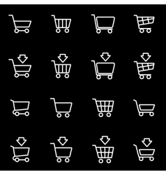 line shopping cart icon set vector image vector image
