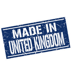 made in united kingdom stamp vector image
