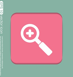 magnifier increase vector image