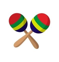 Maracas icon cartoon style vector image vector image