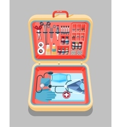Medical suitcase isometrics vector image vector image
