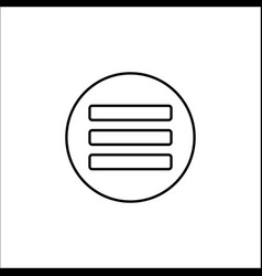 Menu line icon mobile sign and hamburger vector