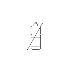 no chemical icon vector image