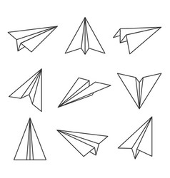 paper plane outline vector image