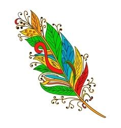 Peerless Decorative Feather Tribal design vector image vector image