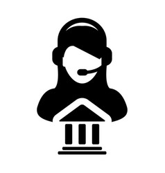 Service icon bank call center female person vector