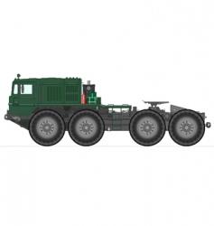 soviet tank truck vector image vector image