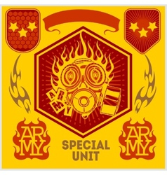 Special unit military patch - set vector image vector image
