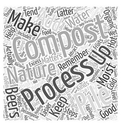 Steps to composting word cloud concept vector