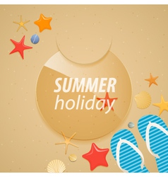 Summer holidays sticker vector image vector image