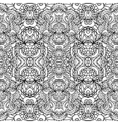 Abstract symmetry swirl seamless patternoutline vector