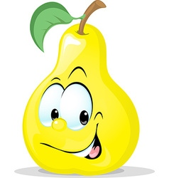 Cute pear character - isolated on white back vector