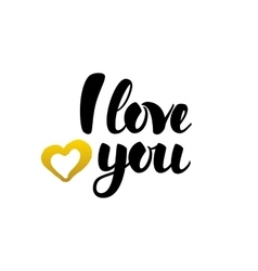 I Love You Handwritten Lettering vector image