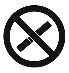 sign prohibiting smoking icon simple style vector image
