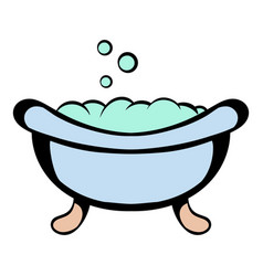 Baby bath icon cartoon vector