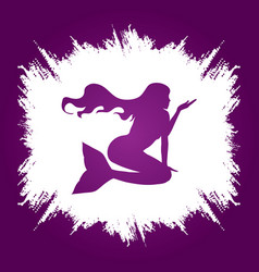 Mermaid sitting shape graphic vector