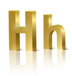 Golden letter h vector