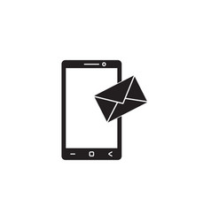 Mobile mail solid icon sms sign message vector