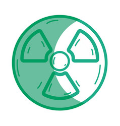 Silhouette radiation symbol to dangerous and vector