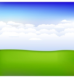 Background With Landscape vector image