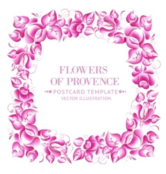 Gzhel style floral frame vector image