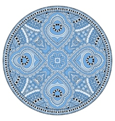 Decorative blue colour design of circle dish vector
