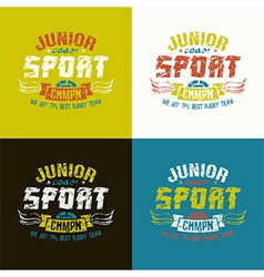 Junior rugby team emblem vector