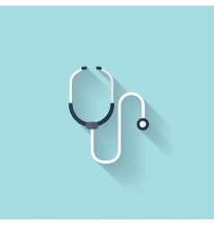 Stethoscope flat icon health care vector