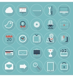 Flat icon trendy long shadow website mobile apps vector