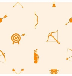 Seamless background with archery vector