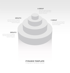 Cylinder infographic template white color balance vector