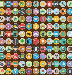 Flat icons design modern big set of various vector