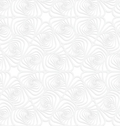 Paper white twisted striped sea shells vector