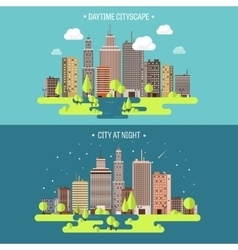 Spring summera city vector