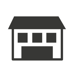 House silhouette isolated icon design vector