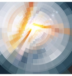 Abstract shining circle tonnel background vector image