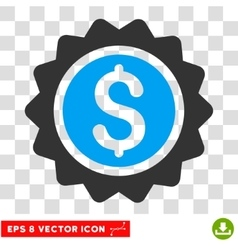 Banking Stamp Icon vector image vector image