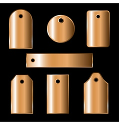 Bronze labels vector