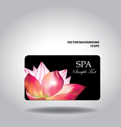 Business card with flower vector image