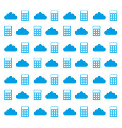 Calculator and cloud vector