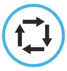 Circulation arrows flat icon vector