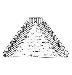 Crest tile or material vintage engraving vector