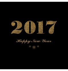 Dark New Year lettering vector image vector image