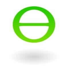 Earth day symbol theta vector