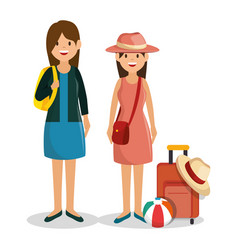 Family vacations avatars icon vector