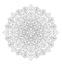 Floral mandala design vector