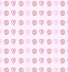 gentle pink background of hearts vector image vector image