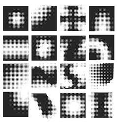 Halftone pattern set vector image vector image